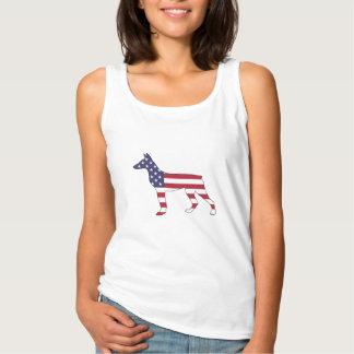 """doberman pinscher """"american flag"""" singlet"""