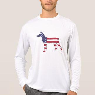 """doberman pinscher """"american flag"""" T-Shirt"""