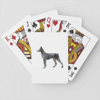 Doberman Pinscher Art Playing Cards