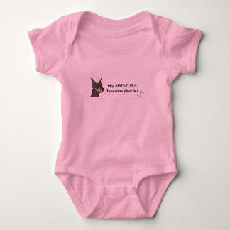 doberman pinscher baby bodysuit