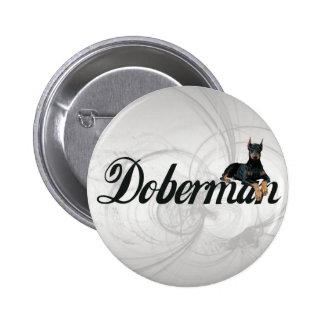 Doberman Pinscher Button