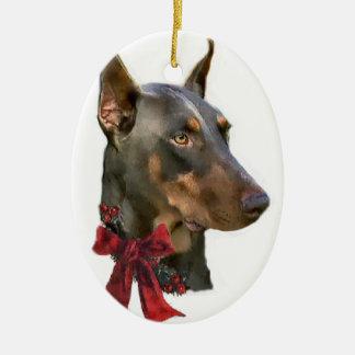 Doberman Pinscher Christmas Gifts Ornament