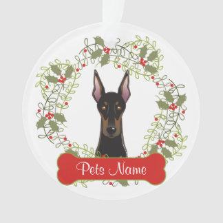 Doberman Pinscher Customizable Ornament