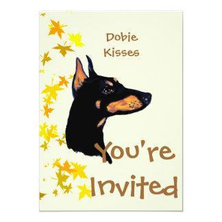 Doberman Pinscher ~ Dobie Kisses 13 Cm X 18 Cm Invitation Card