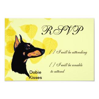 Doberman Pinscher ~ Dobie Kisses 9 Cm X 13 Cm Invitation Card