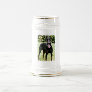 Doberman Pinscher Dog Beer Stein