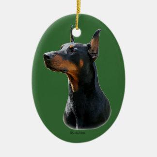 Doberman Pinscher head Ornament