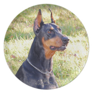 Doberman Pinscher Headshot Plate