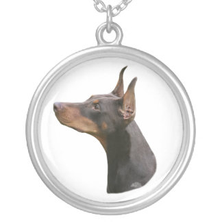 Doberman Pinscher headstudy Necklace