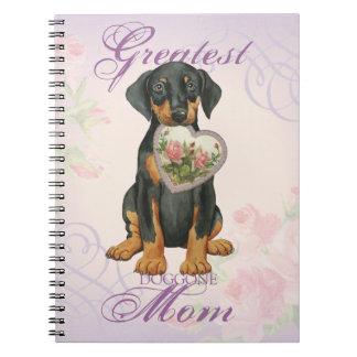 Doberman Pinscher Heart Mom Notebooks