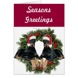 Doberman Pinscher Holiday Card