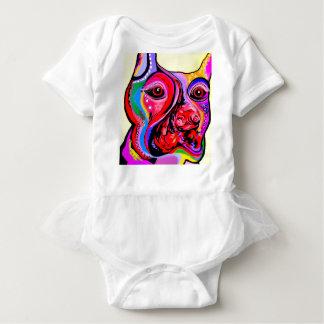 Doberman Pinscher in Bright Colors Baby Bodysuit