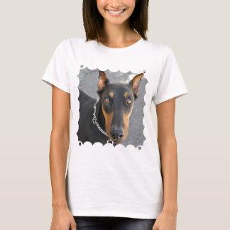 Doberman Pinscher Ladies Fitted T-Shirt