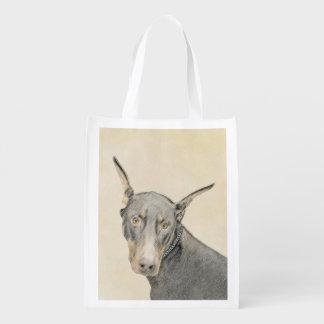 Doberman Pinscher Reusable Grocery Bag