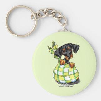 Doberman Pinscher Sack Puppy Key Ring