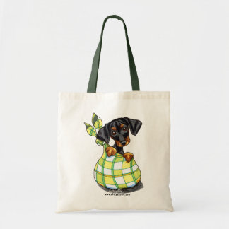 Doberman Pinscher Sack Puppy Tote Bag