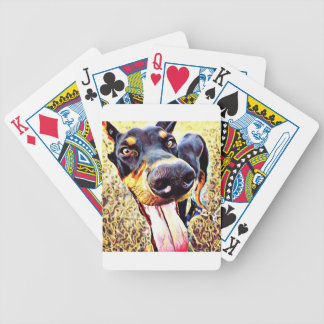 Doberman Pinscher Swirl Paint 1 Bicycle Playing Cards