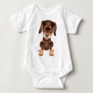 doberman puppy baby bodysuit