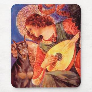 Doberman (red) - Mandolin Angel Mouse Pad
