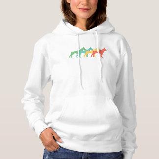 Doberman Retro Pop Art Hoodie