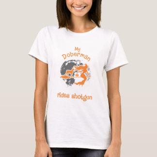 Doberman Rides Shotgun Halloween Costume T-Shirt