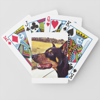 Doberman Swirl Paint 2 Bicycle Playing Cards