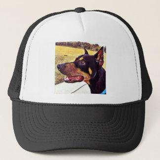 Doberman Swirl Paint 2 Trucker Hat