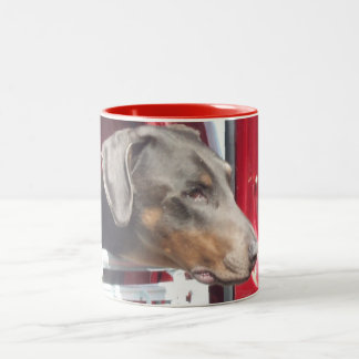 Doberman Two-Tone Coffee Mug