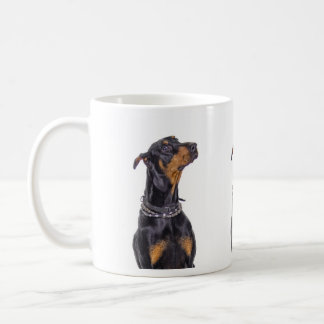 Doberman with Sneaky Look Mug