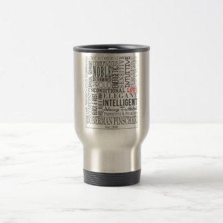 Doberman Word Travel Mug