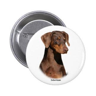 Dobermann 9Y381D-162 Pinback Button