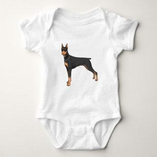 Dobermann doberman baby bodysuit