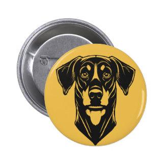 Dobermann Portrait 6 Cm Round Badge