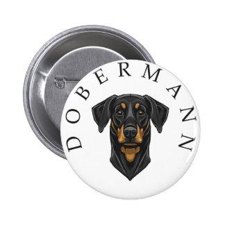 Dobermann Portrait Button