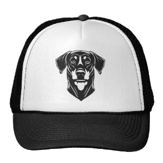 Dobermann Portrait Mesh Hats