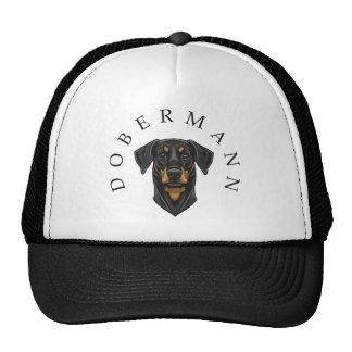 Dobermann Portrait Hats