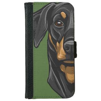Dobermann Portrait iPhone 6 Wallet Case