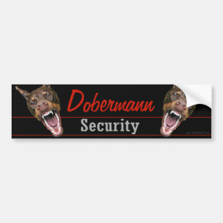 Dobermann Security Bumper Sticker