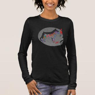 Dobermans art w chalk long sleeve T-Shirt