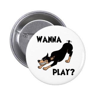 Dobie - Play 6 Cm Round Badge
