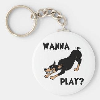 Dobie - Play Basic Round Button Key Ring
