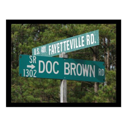 Doc Brown Rd Postcard