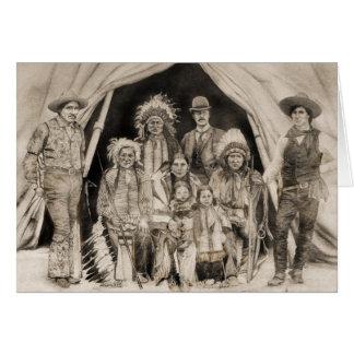 Doc Carver's Wild West Show Card