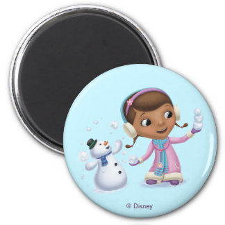 Doc McStuffins   Doc And Chilly Playing In  Snow Magnet