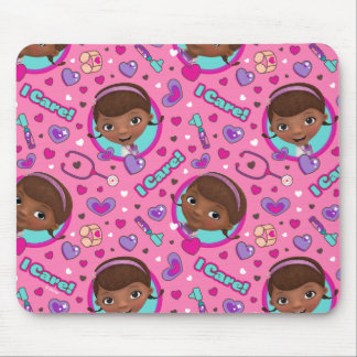 Doc McStuffins | I Care Pink Pattern Mouse Pad