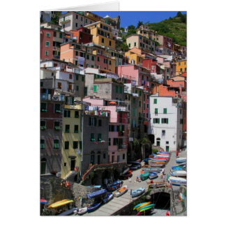Dock at Riomaggiore Greeting Card