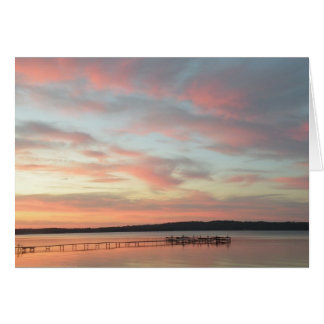 Dock at Sunset - Grand Traverse Bay Card