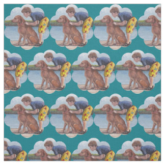 Dock Dog Junior Golden Retriever Art Fabric