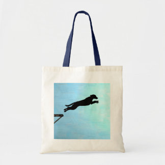 Dock Jumping Dog Tote Bag