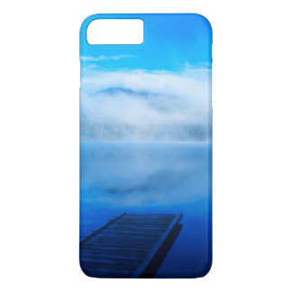 Dock on calm misty lake, California iPhone 7 Plus Case